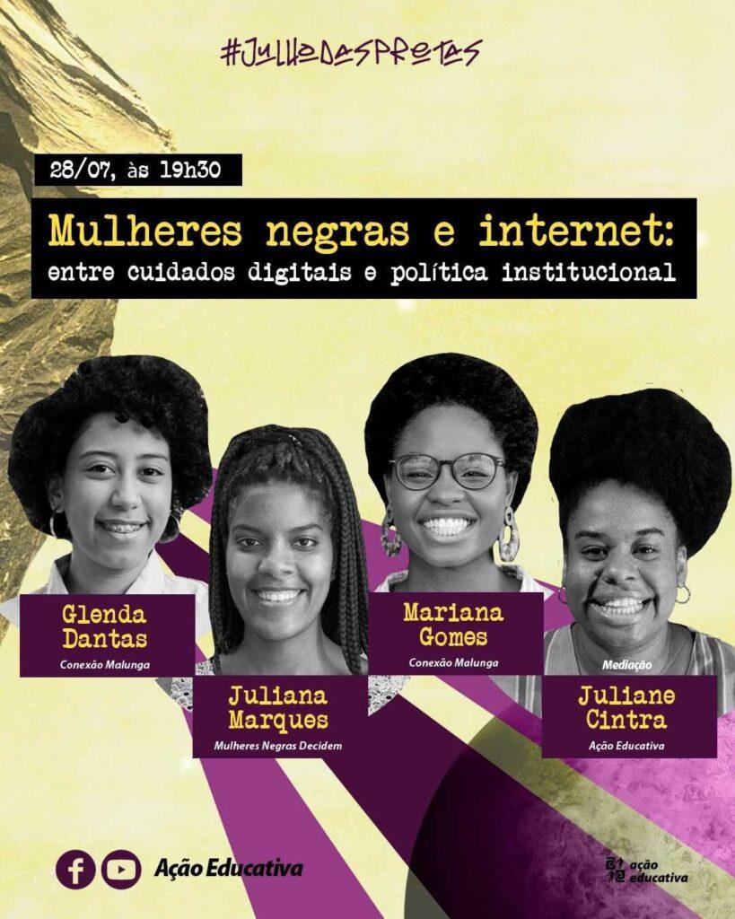 Conexão Malunga participa de painel sobre desafios e oportunidades às mulheres negras na Internet